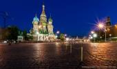 Moskau I Roter Platz I Basilius-Kathedrale